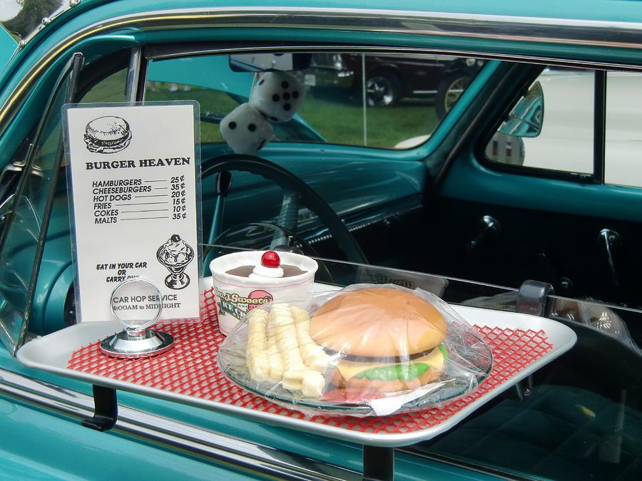 Vintage Cars Photograph - Car Hop Blues by Richard Mansfield