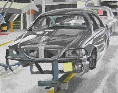 Car In Process Painting by Margie Guyot