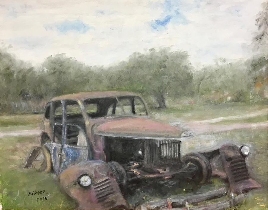 Car Parts For Sale Painting by Jerry Bridges