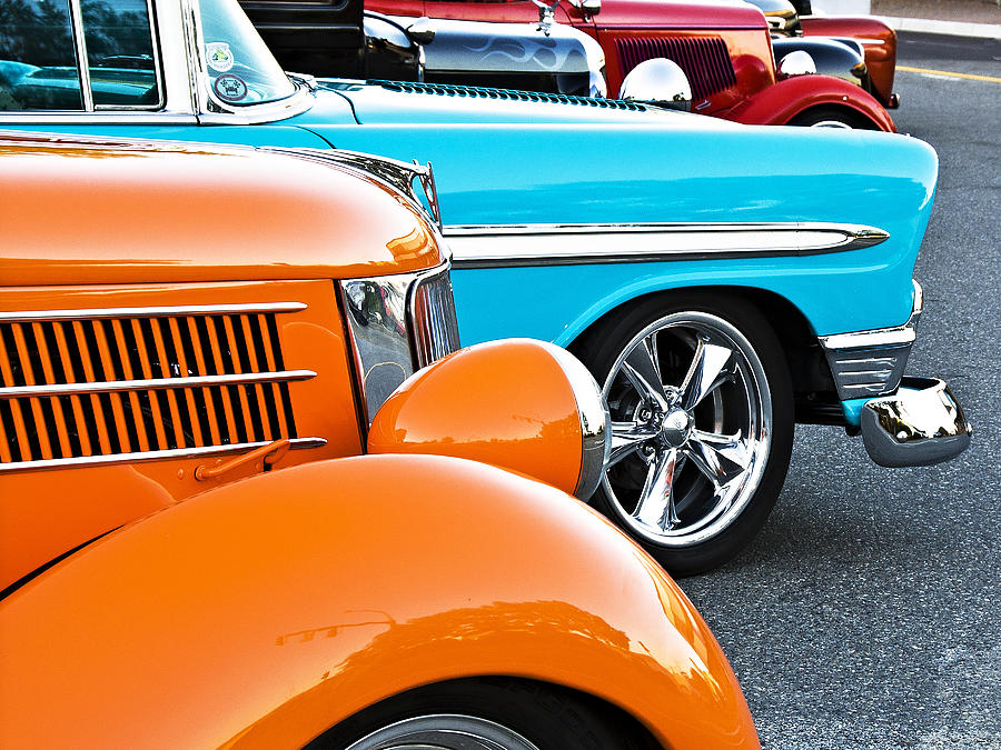 Car Photograph - Car Show Beauties by Marion McCristall