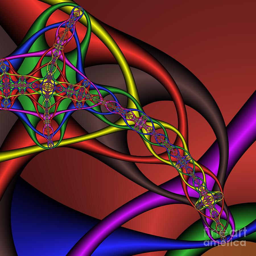 Abstract Digital Art - Carabiner 129  by Rolf Bertram