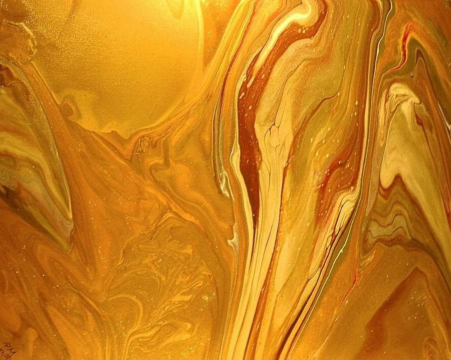 Abstract Painting - Caramel Delight by Patrick Mock