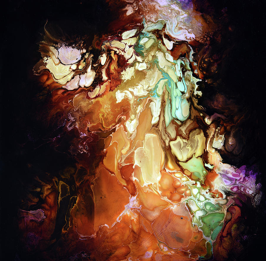 Abstract Painting - Caramelize by Dion Kurczek