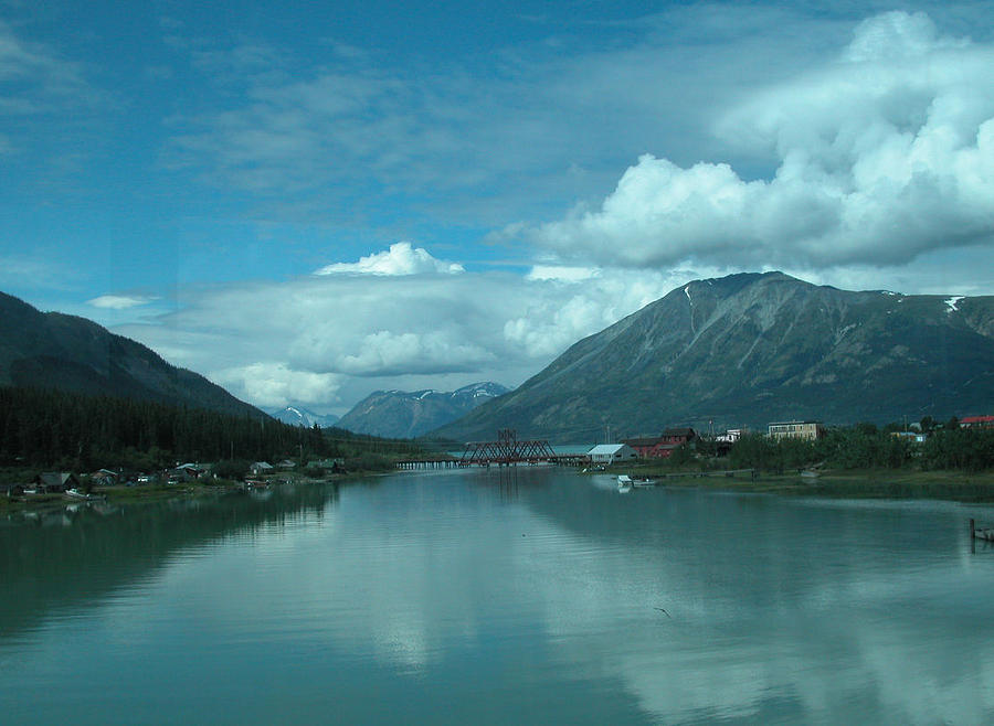 Travel Photograph - Carcross - So Much Blue by William Thomas