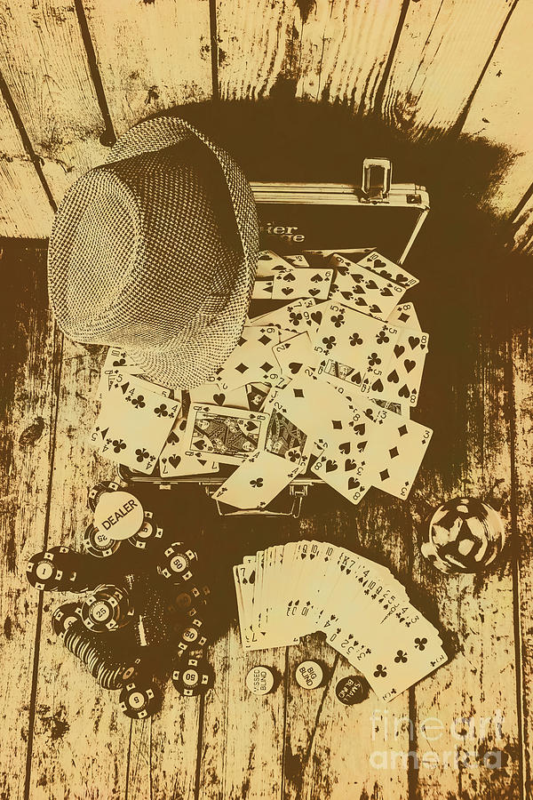Vintage Photograph - Card Games And Vintage Bets by Jorgo Photography - Wall Art Gallery