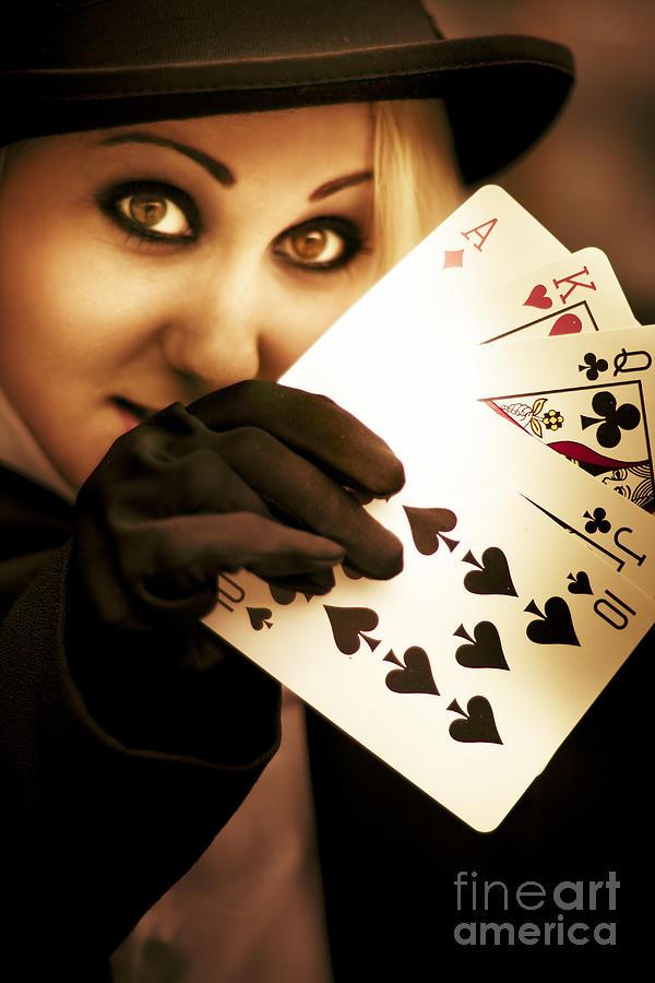 Ace Photograph - Card Magician by Jorgo Photography - Wall Art Gallery