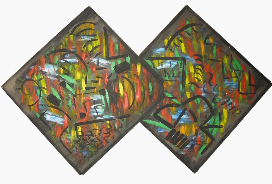 Cardboard Series 2 Painting by Alfonso Robustelli