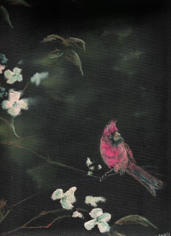 Cardinal 1 Painting by Raymond Doward