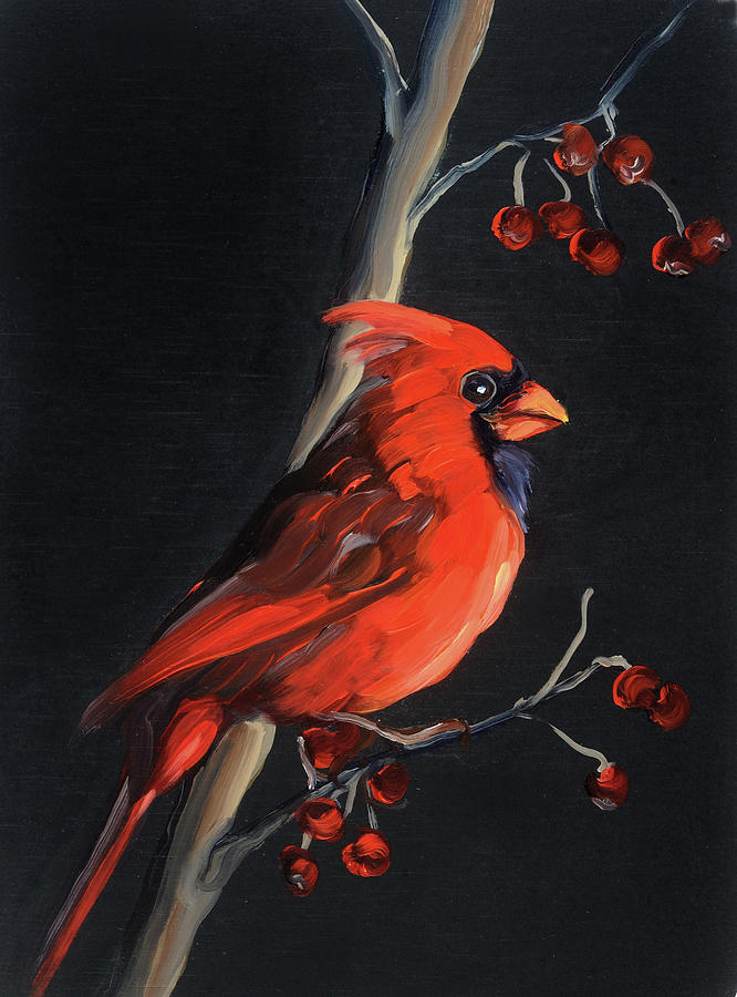 Cardinal Painting - Cardinal by Anne Lewis