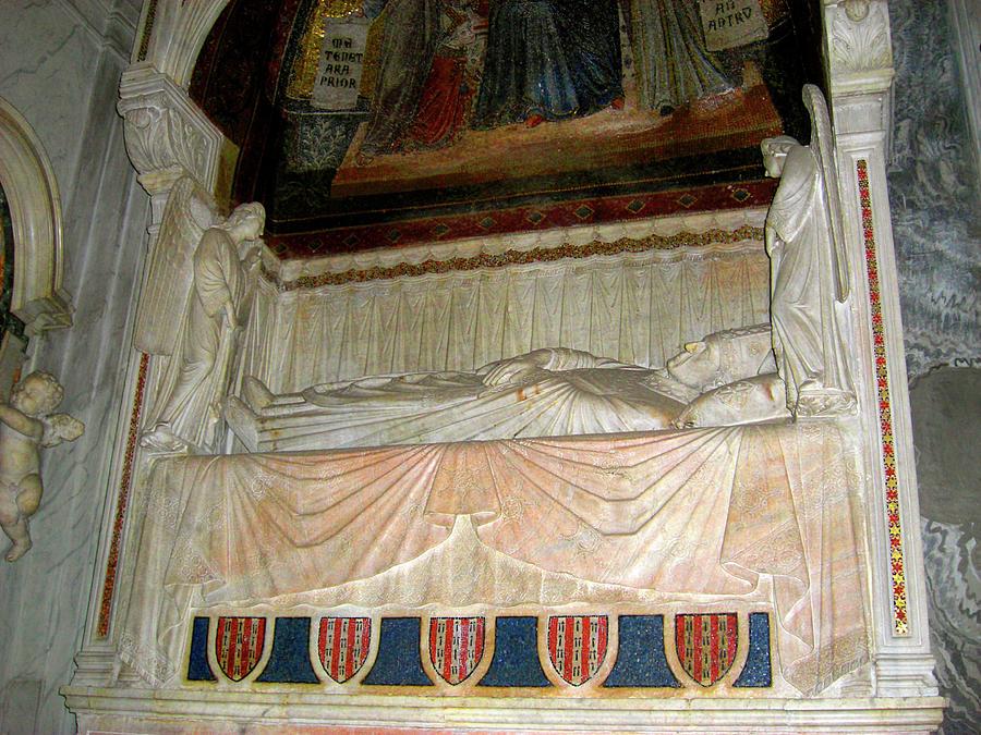 Rome Photograph - Cardinal Gonsalvo Rodriguez Tomb by Deborah Smolinske