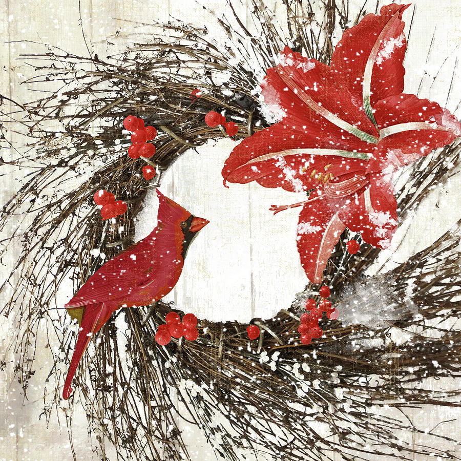Cardinal Painting - Cardinal Holiday I by Mindy Sommers