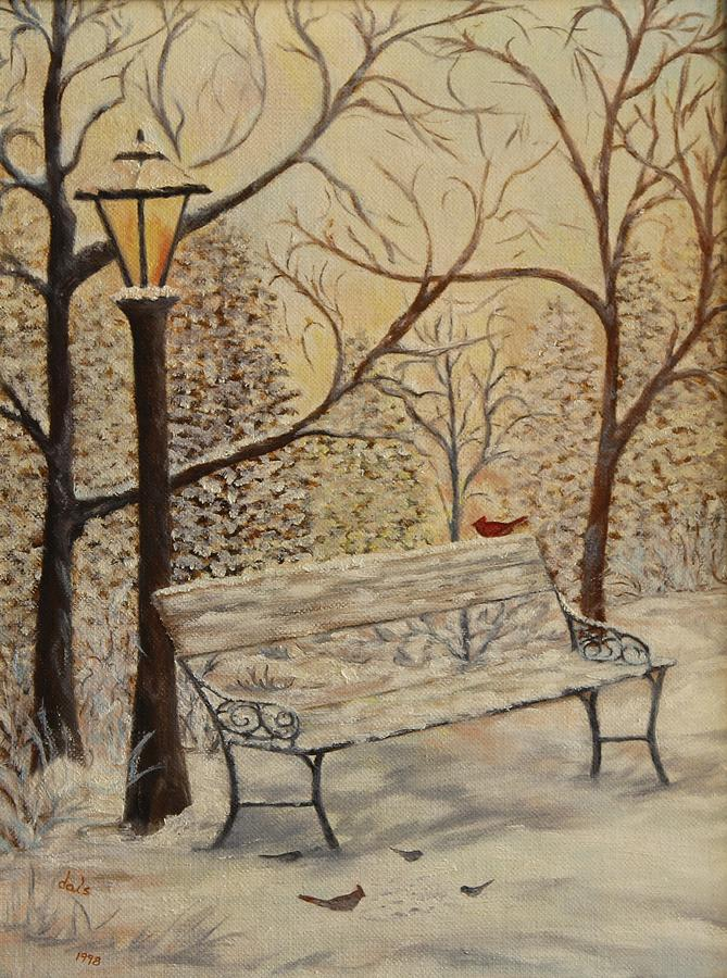 Cardinal Painting - Cardinal In The Snow by Douglas Ann Slusher
