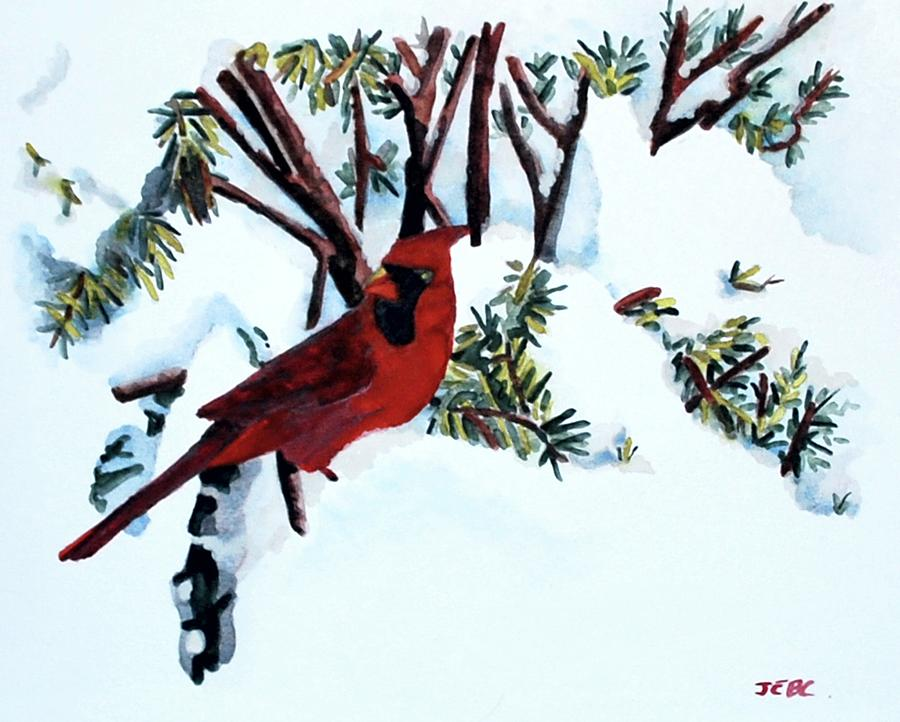 Cardinal in the Snow by Gerald Carpenter