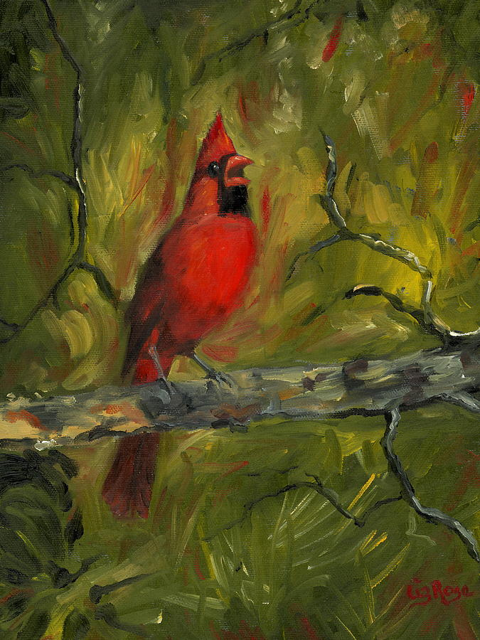 Cardinal Painting - Cardinal by Liz Rose