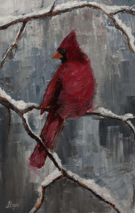 Cardinal North Carolina State Bird In Snow Painting