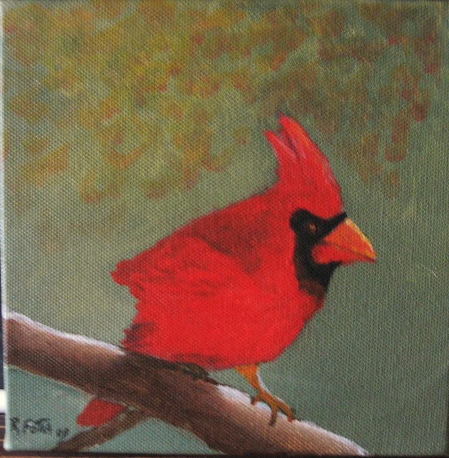 Bird Painting - Cardinal by Rich Fotia