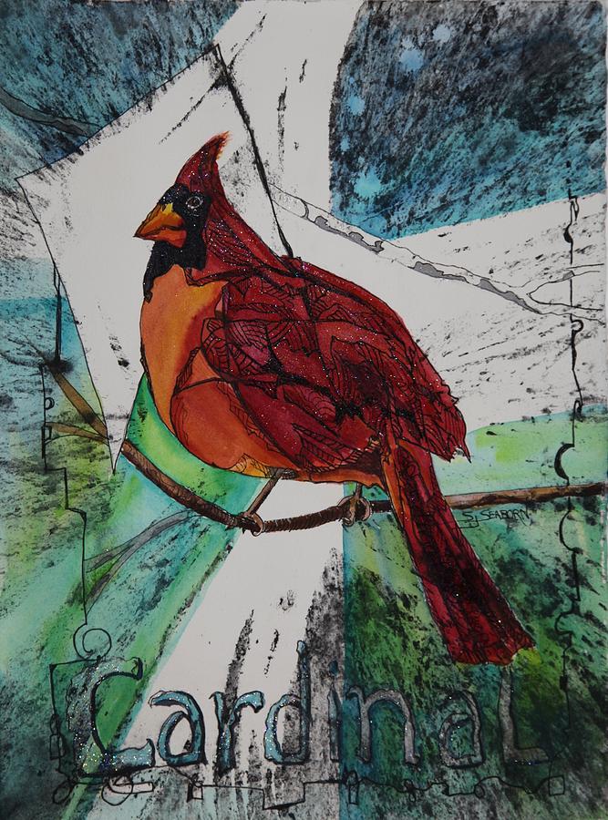Cardinal Painting - Cardinal by Susan Seaborn