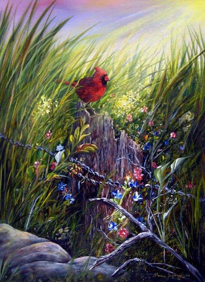 Cardinal Painting - Cardinal by Theresa Jefferson