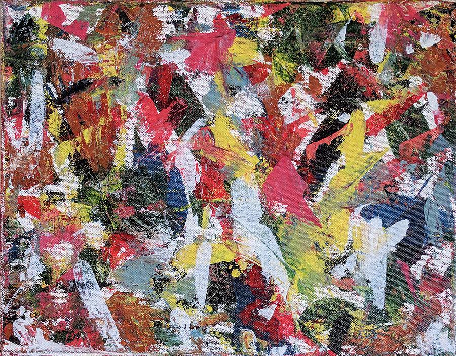 Abstract Painting - Cardinals by Trisha Pena