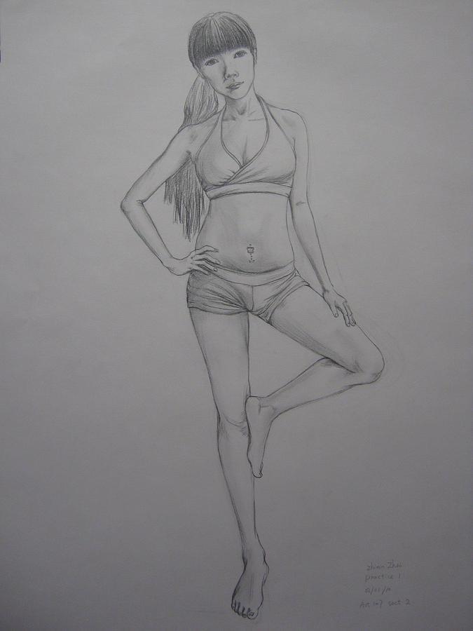 Figure Drawing - Cardio Coach by Zhimin Zhai