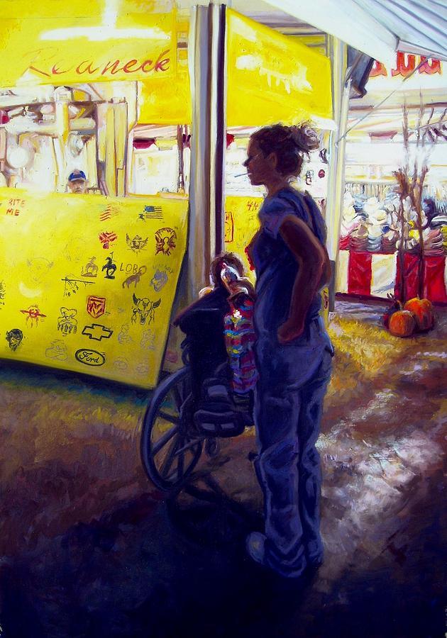 Care Taker Painting by Cameron Hampton PSA