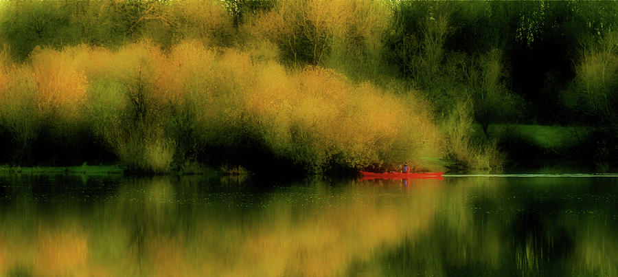 Reflective Lake Photograph - Carefree Afternoon by Bonnie Bruno