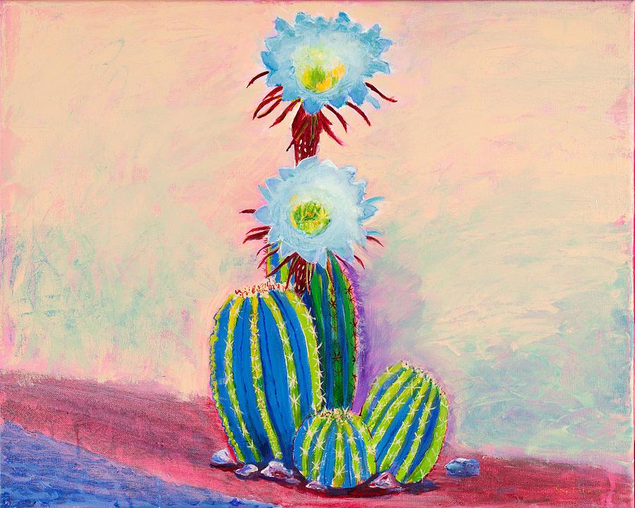 Carefree Cactus 16 x 20 by Santana Star
