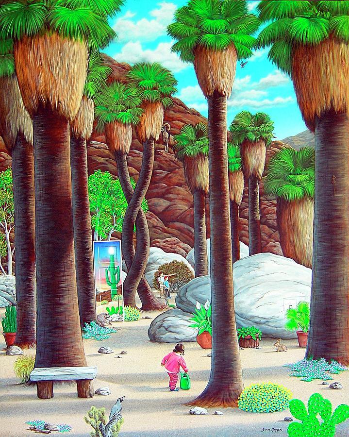 Canyon Painting - Caretaker by Snake Jagger