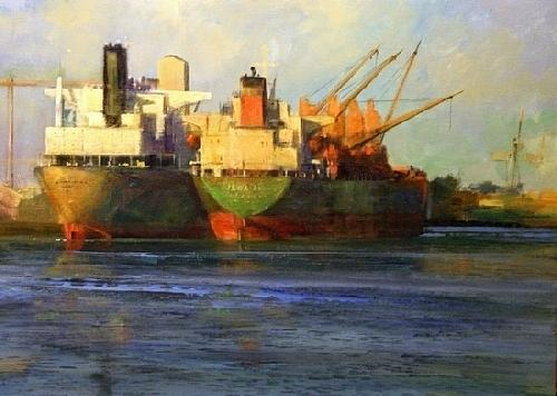 Cargoes From Across The Sea Painting by Gil Dellinger
