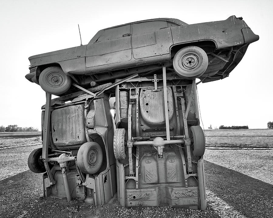 Carhenge Photograph - Carhenge 3 by Jim Hughes