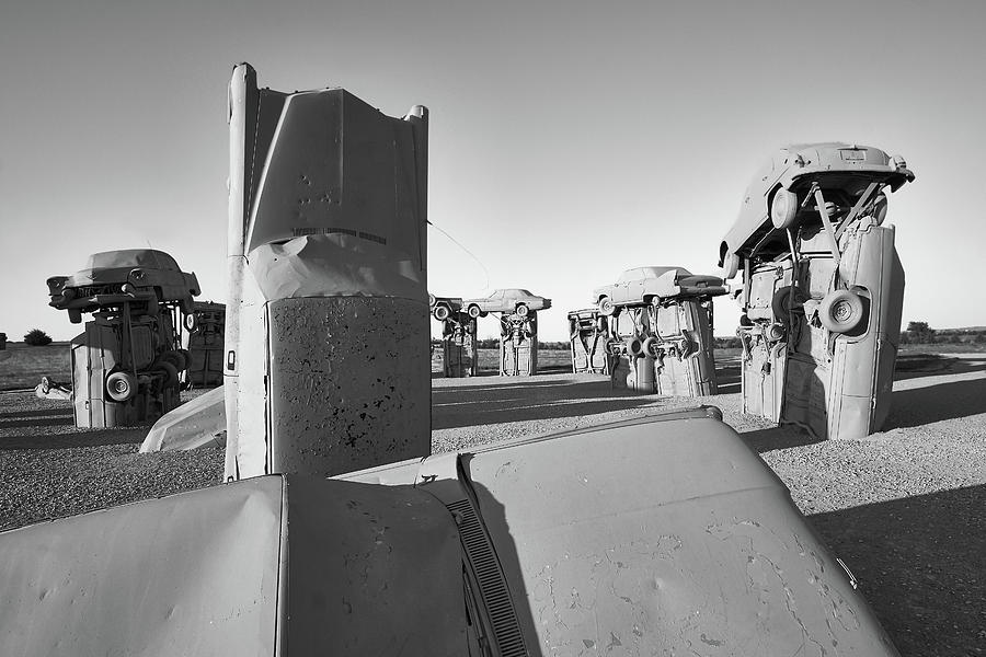 Carhenge Photograph - Carhenge 4 by Jim Hughes