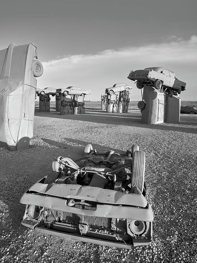 Carhenge Photograph - Carhenge 6 by Jim Hughes