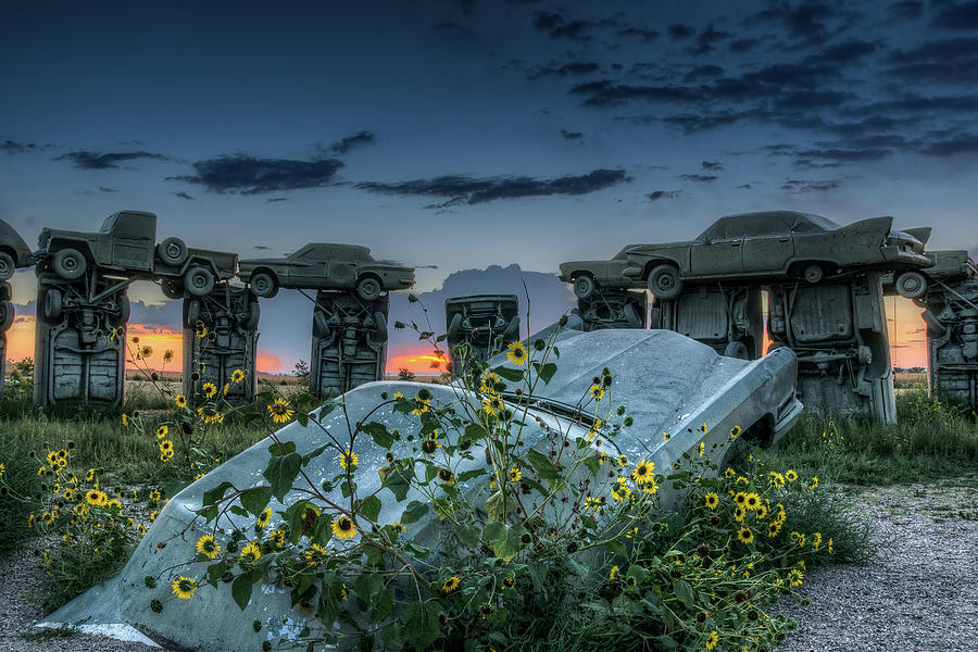 Alliance Photograph - Carhenge, Alter Stone by John Strong