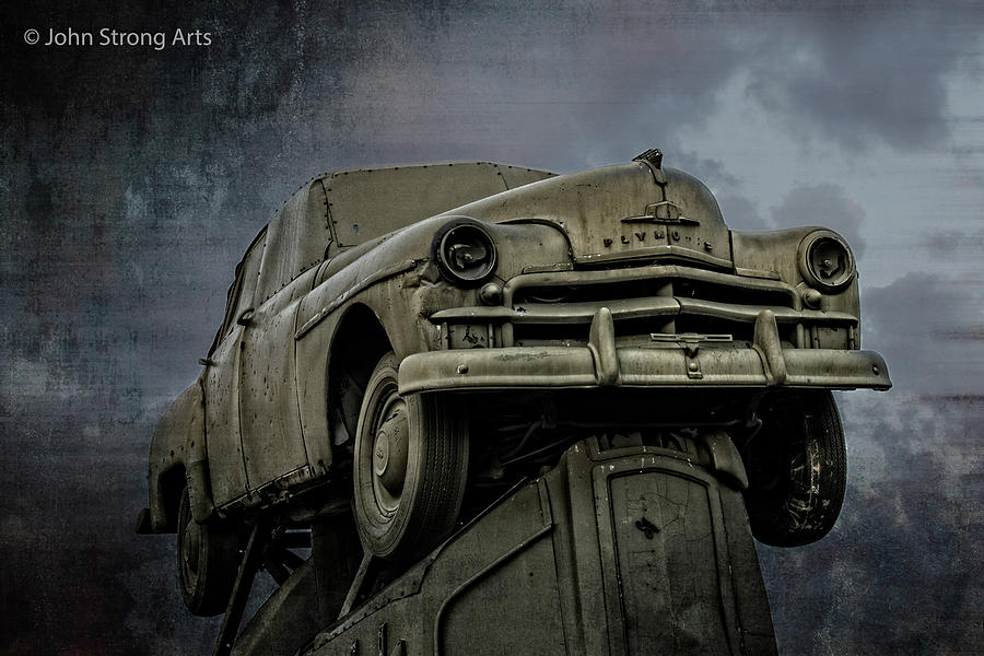 Alliance Photograph - Carhenge - Plymouth Rock by John Strong