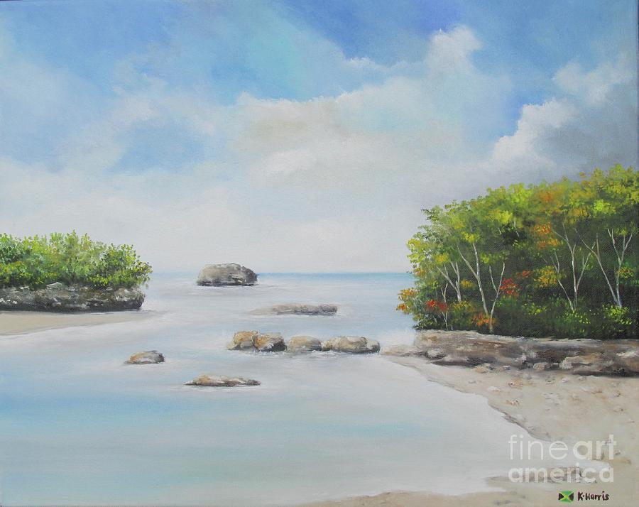 Caribbean Beach by Kenneth Harris