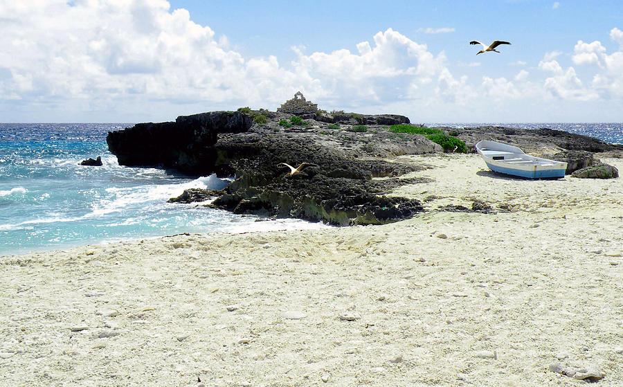 Beach Photograph - Caribbean Beach Scenic by Rosalie Scanlon