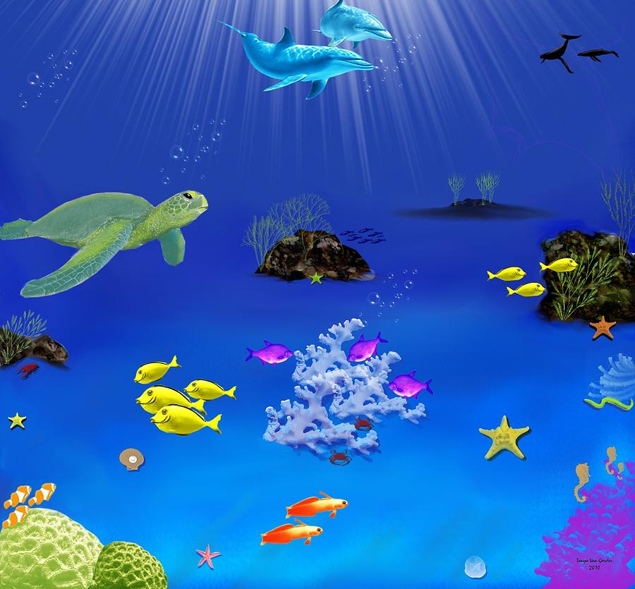 Sea Digital Art - Caribbean Blue by Tanya Van Gorder