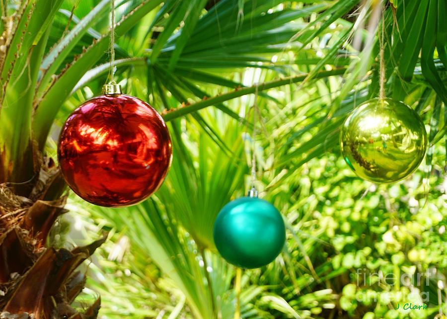 Christmas Painting - Caribbean Christmas Baubles by John Clark