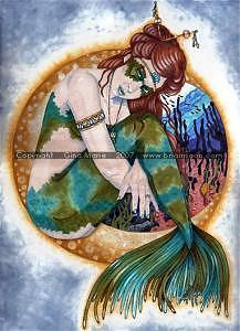 Fantasy Painting - Caribbean Jade by Gina Marie Baker