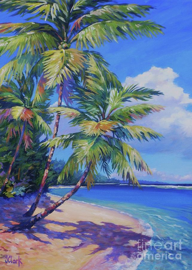 Paintings Painting - Caribbean Paradise 5x7 by John Clark