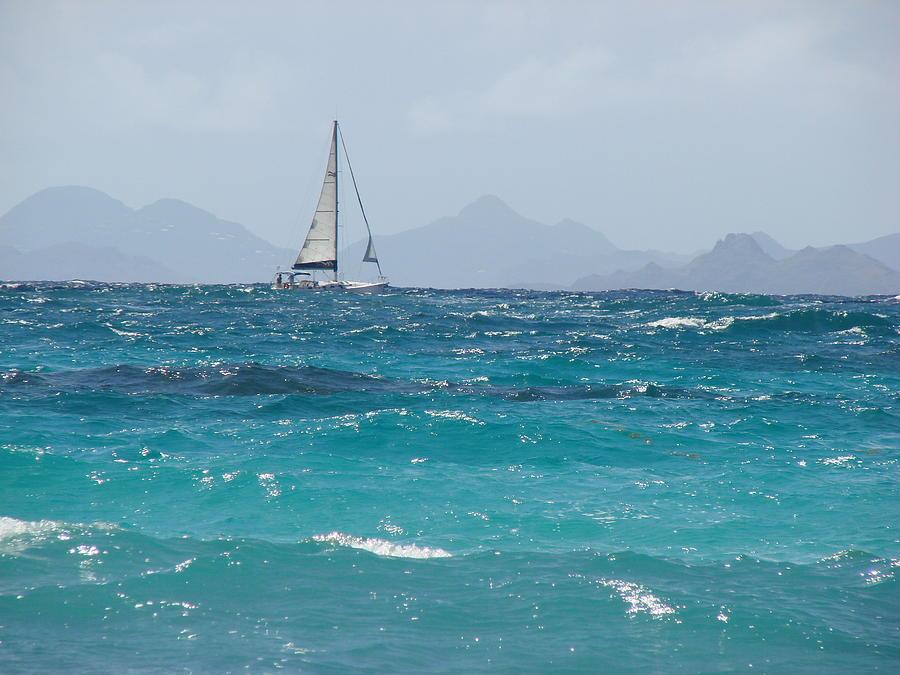 Landscape Photograph - Caribbean Sailing by Margaret Bobb