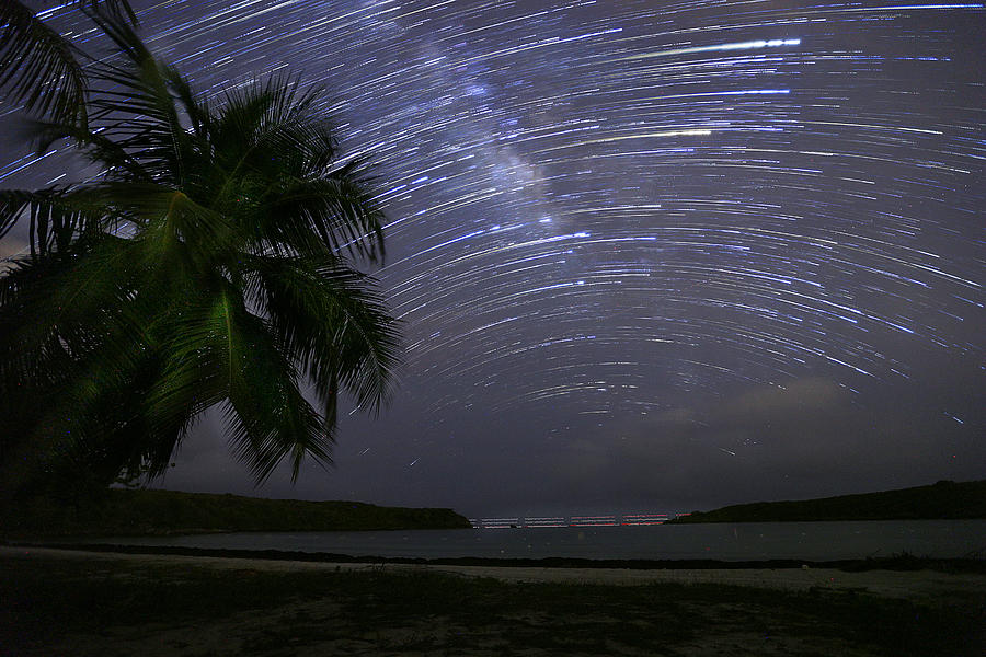 Vieques Photograph - Caribbean Star Trails And Milky Way by Karl Alexander