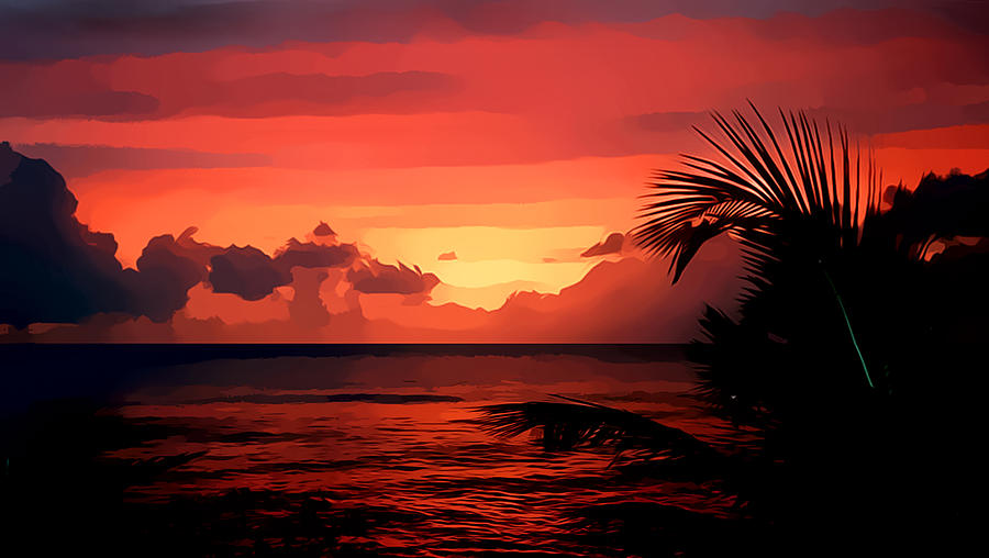 Caribbean Photograph - Caribbean Sunset by Gareth Davies