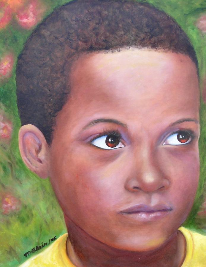 Children Painting - Caribe Child by Merle Blair