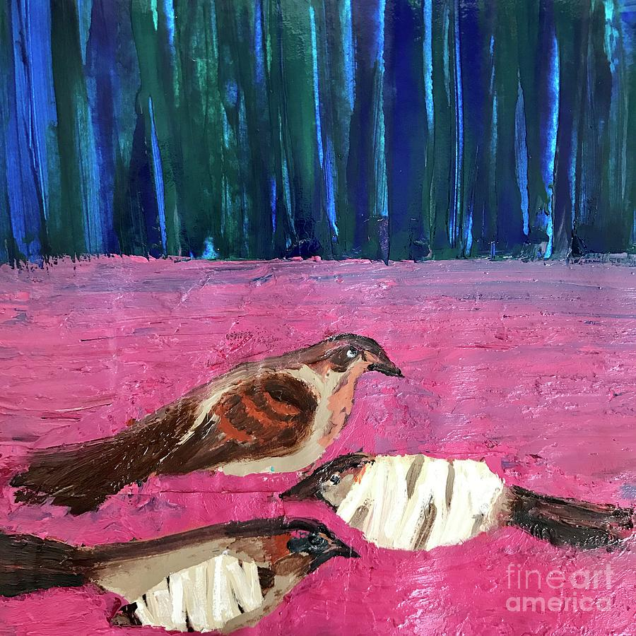 Birds Painting - These Broken Wings by Kim Nelson