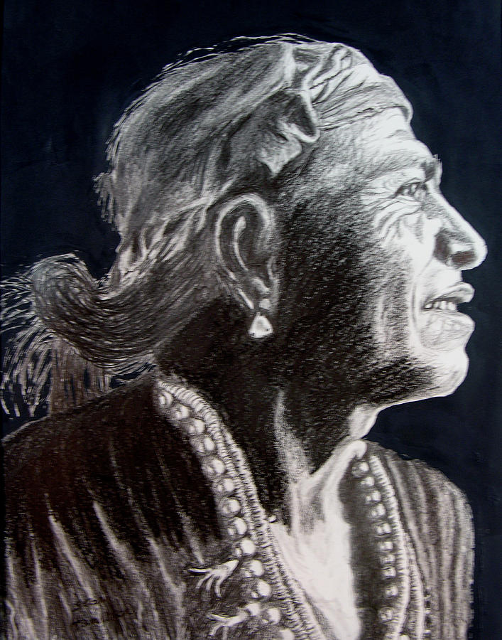 Indian Drawing - Carl Moon by Stan Hamilton