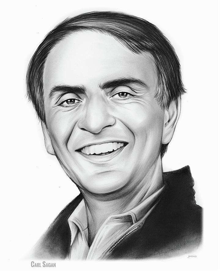 Carl Sagan Drawing - Carl Sagan by Greg Joens