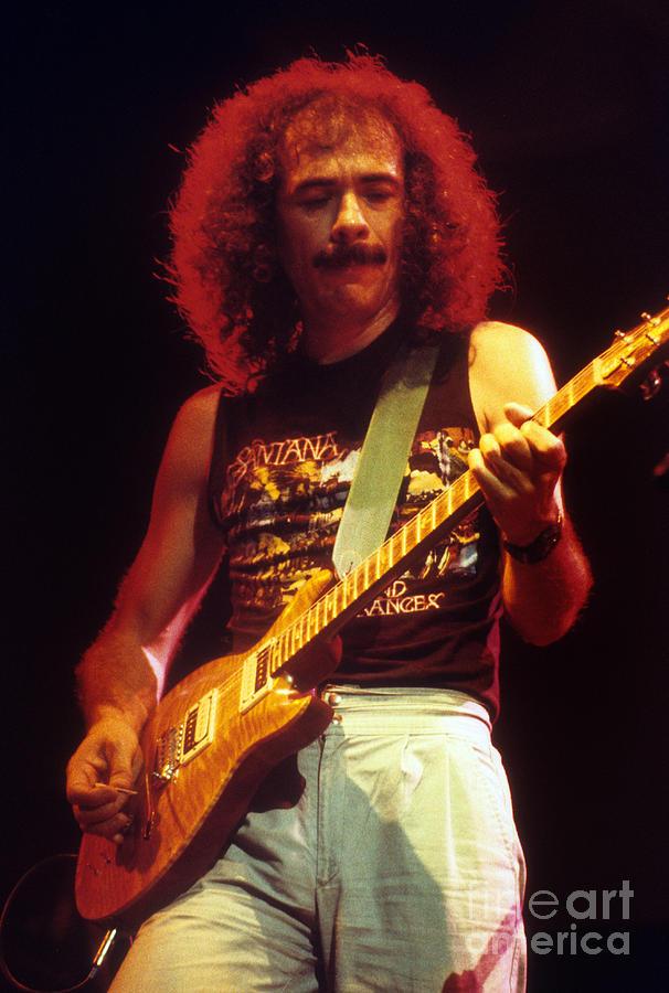 Carlos Santana Photograph by David Plastik