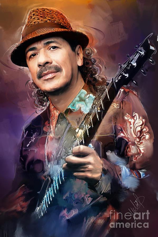 Carlos Santana Painting - Carlos Santana by Melanie D
