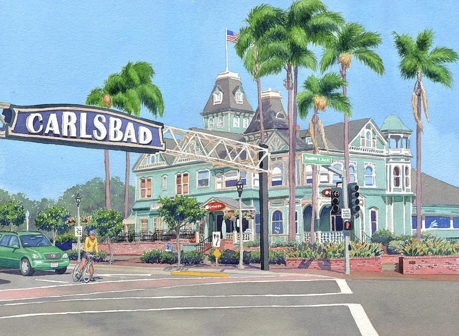Carlsbad California by Mary Helmreich